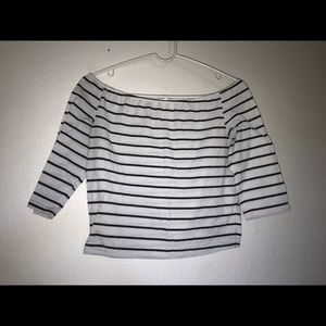 XL black and white crop top
